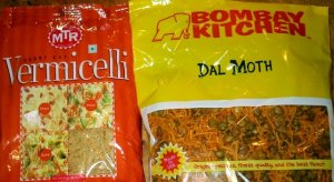 Vermicelli and Dal Moth products from Indian grocery