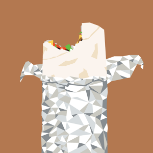 Burrito illustration from Rob Schill on Behance