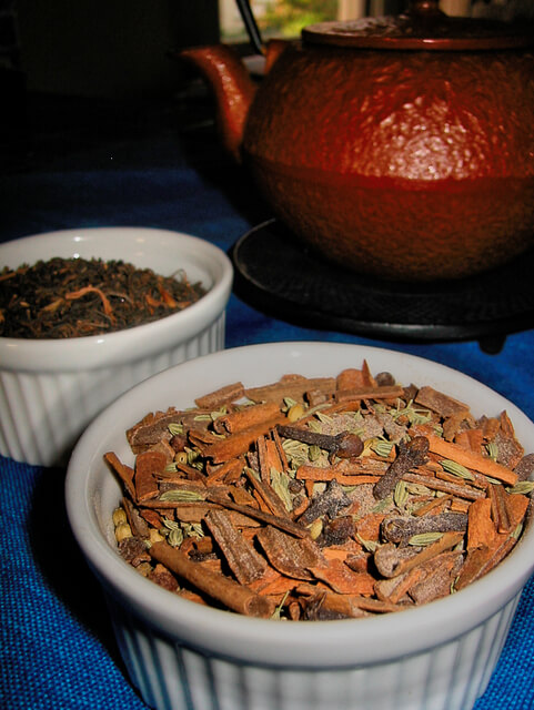 Masala chai mix, a blend of spices used to make masala chai