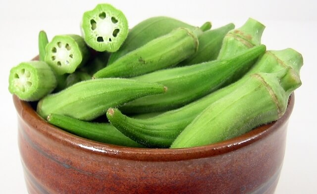 Photo of okra in a bowl
