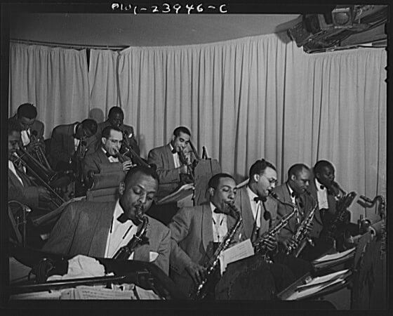 Photo of Duke Ellington Band from LOC 8d13223u