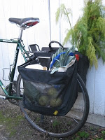 photo of grocery bag pannier