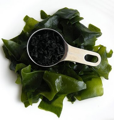Photo of dried and soaked wakame from fotoosvanrobin at Flickr