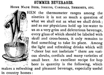 Summer Beverages from page 172, Good Housekeeping, Volume 9, 1889