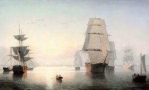 Boston Harbor, Sunset, Fitz Henry Lane