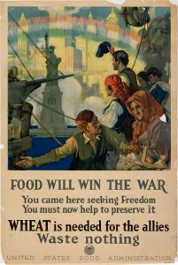 """""""Food Will Win the War""""Poster from World War I"""