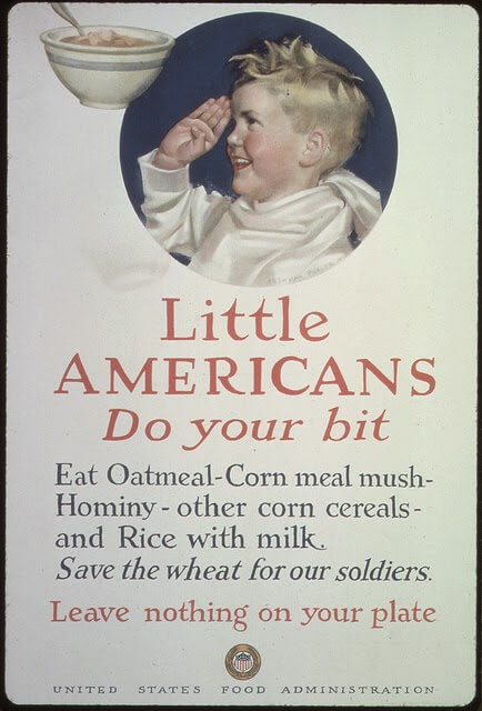 WW1 poster: Little Americans. Do your bit.