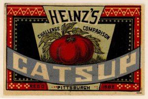 Heinz 1883 catsup label 22707_2010_001_PR