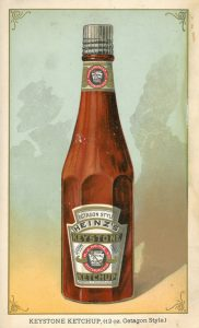 Heinz 1890 Keystone ketchup illustration from Heinz History Center
