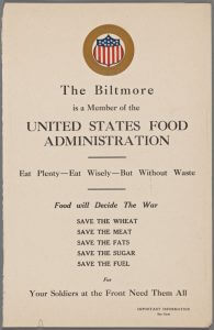 Biltmore Menu 1917 - nypl.digitalcollections.c142b72c-1772-3ca6-e040-e00a18060f0a.001.w