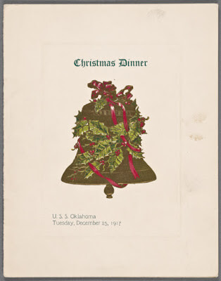 Menu for USS Oklahoma, from Buttolph Collection at NYPL