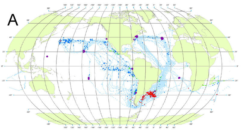 Fig 16 A in Spatial and Seasonal Distribution of American Whaling and Whales in the Age of Sail.g016 1780–1824 (A)