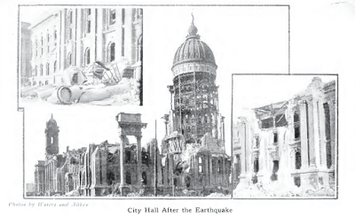 Burned City Hall from History of San Francisco Earthquake p15