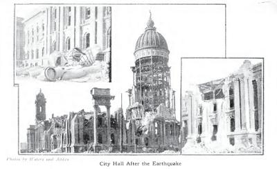 Burned City Hall from History of San Francisco Earthquake p15