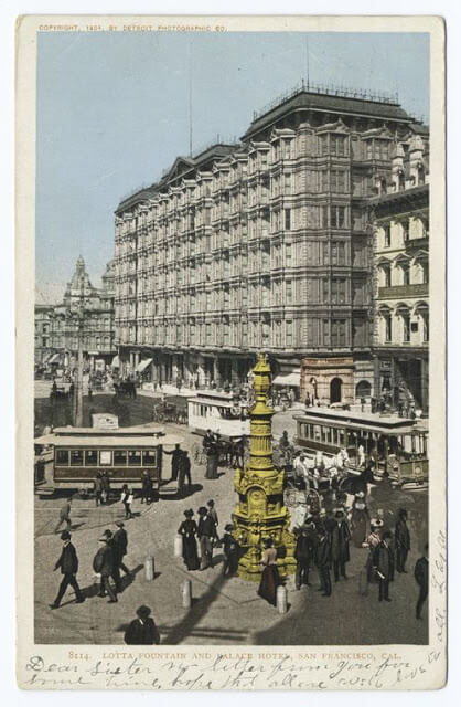 Lotta Fountain and Palace Hotel