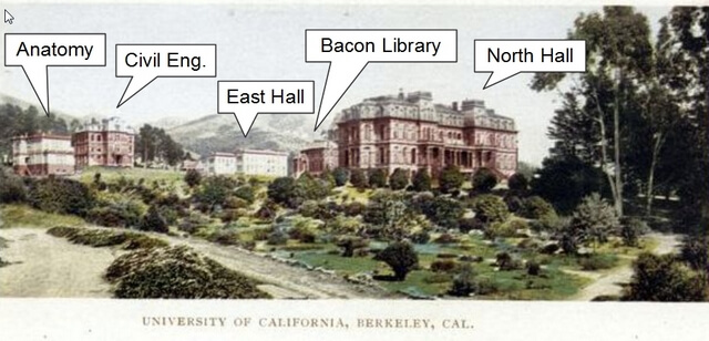 Postcard of UC Berkeley circa 1900