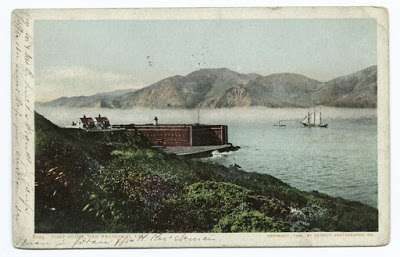 Postcard of Fort Point from the NYPL Digital Collections