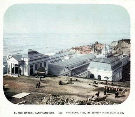 Postcard of Sutro Baths from NYPL Digital Collections