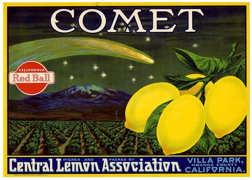 Label for COMET brand lemons from California Historical Society collection on Flickr Commons
