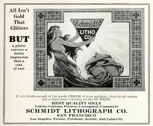 Advertisement for Schmidt Lithograph Co. from Better Fruit magazine