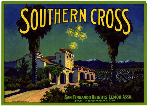 Southern Cross lemon fruit crate label from California Historical Society on Flickr Commons