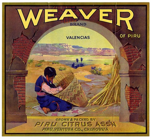 Weaver fruit crate label from California Historical Society on Flickr Commons