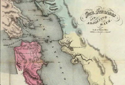 1853 California map from David Rumsey Collection 00434108