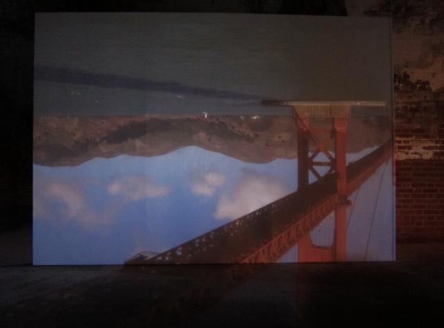 Golden Gate Bridge through a Camera Obscura