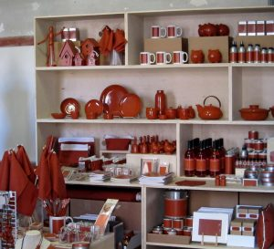 International orange store by Stephanie Syjuco at Fort Point