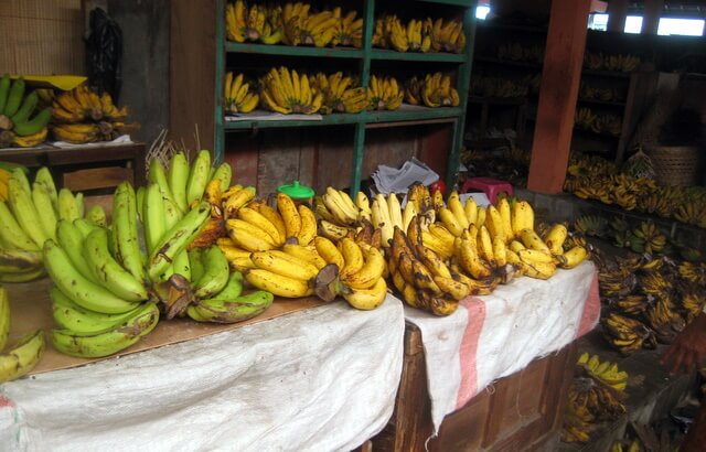 The banana section of the Beringharjo market,Yogyakarta, Indonesia