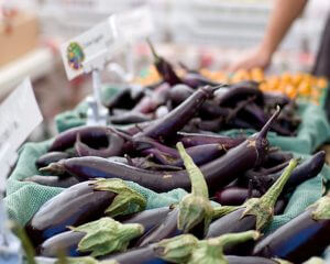 Eggplant at the farmers market - photo by Jen Maiser on Flickr