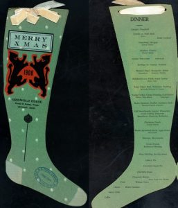 Griswold House 1900 Christmas Menu