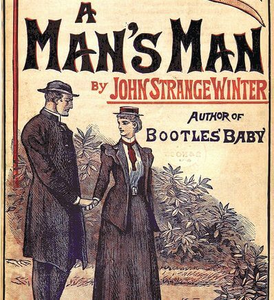 """A Man's Man"", book cover from the British Library"