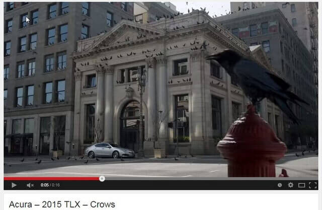 Acura Crows car commercial - Farmers and Merchants Bank Building - 401 S. Main St, Los Angeles