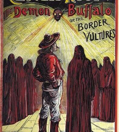 """Cloven Hoof - The Demon Buffalo of the Border Vultures"", book cover from the British Library"