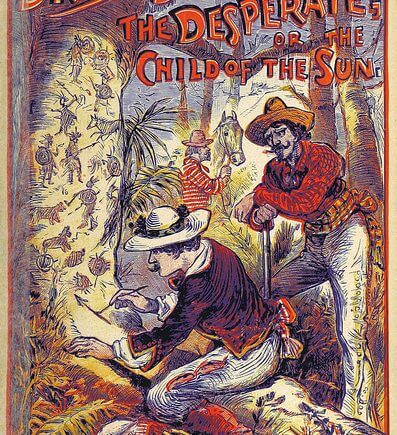 """""""Dark Dashwood, the Desperate; or the Child of the Sun"""", book cover from the British Library"""