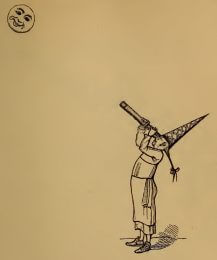 Moon observer, drawing by W.M. Thackeray from Thackerayana (1875) - page 211