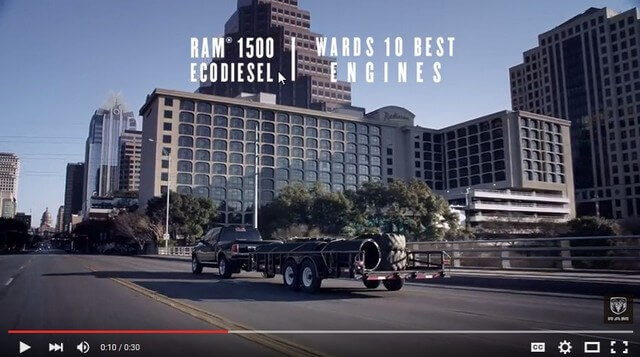 Ram 1500 commercial, Congress Avenue Bridge in Austin, Texas