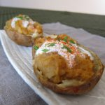 Twice-baked potatoes with chermoula and yogurt