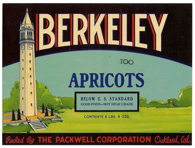 Berkeley Apricots fruit crate label from California Historical Society Flickr collection