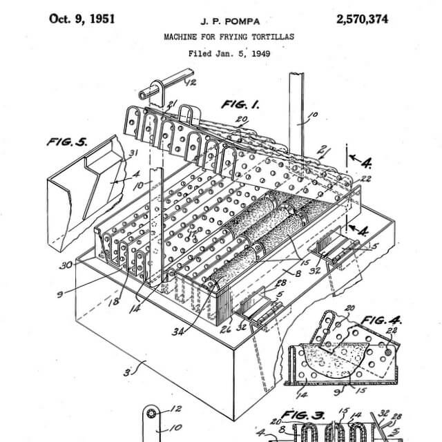 Detail of illustration page from US Patent US2570374