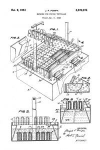 Illustration page from US Patent 2570374 by Pompa - Machine for frying tortillas