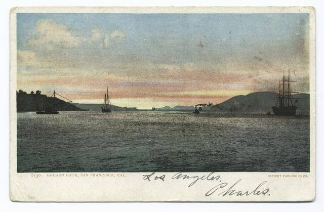 The Golden Gate Before the Bridge - from NYPL Digital Collections