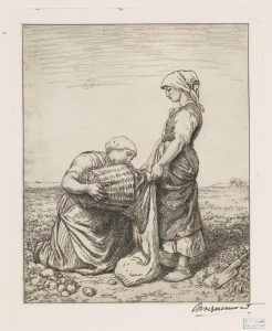 La récolte des pommes de terre - potato harvest - from NYPL Digital Collections