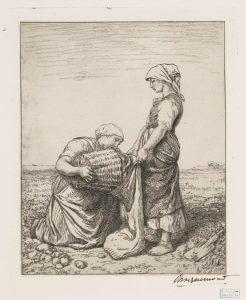 La récolte des pommes de terre - potato harvest - from NYPL Digital Collections