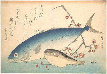 Fugu and Inada Fish by Hiroshige from the Metropolitan Museum of Art