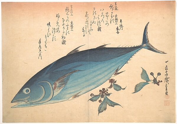 Katsuo Fish with Saxifrage by Hiroshige from the Metropolitan Museum of Art