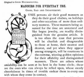 Decorative letter S from 1886 Good Housekeeping