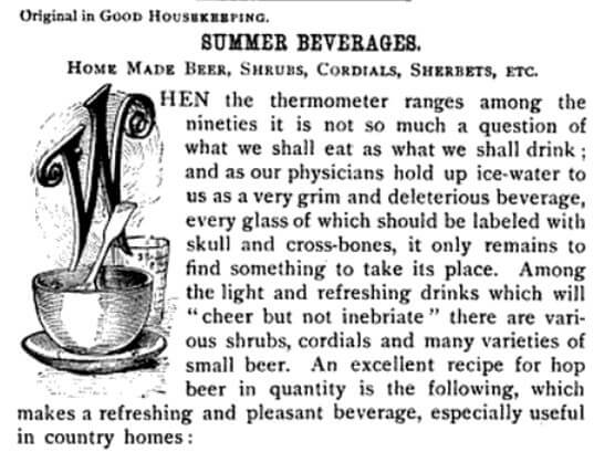 Decorative letter W from 1889 Good Housekeeping