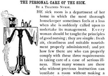 Decorative letter T from 1886 Good Housekeeping